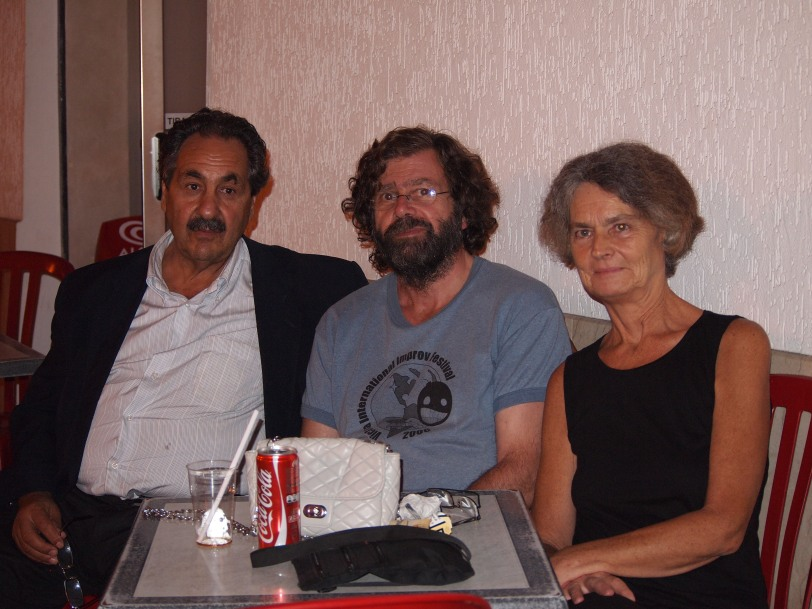 Nick with Bernadette, our Irish friend, and Tony the Marxist